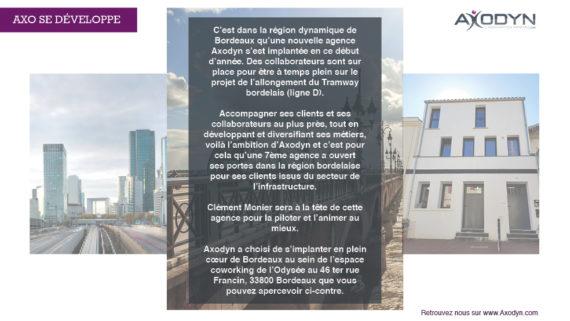 AXODYN ouvre une nouvelle agence à Bordeaux